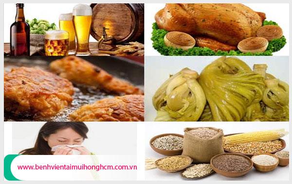 Những thực phẩm nên kiêng khi bị viêm mũi dị ứng